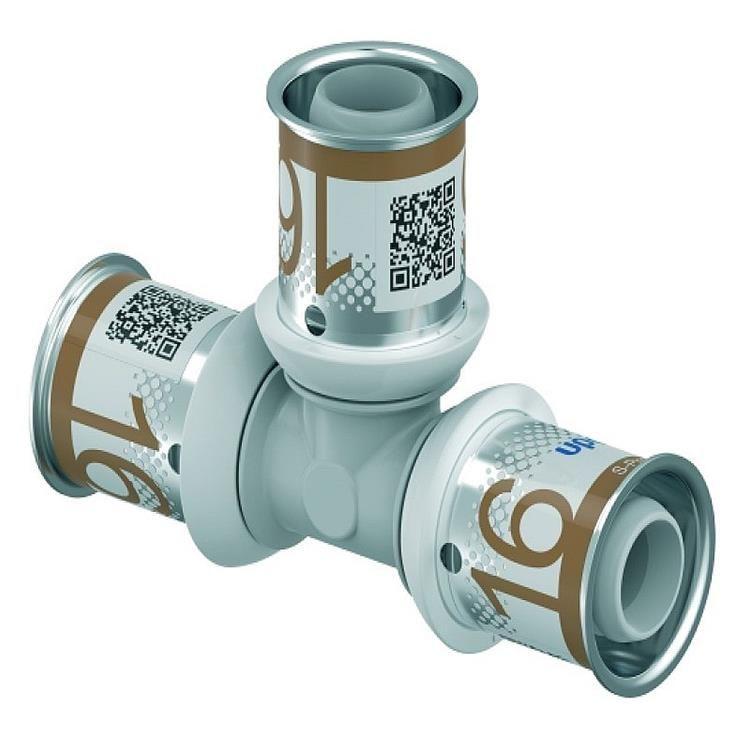 Uponor S-Press Plus PPSU T-stuk - 16 mm pers